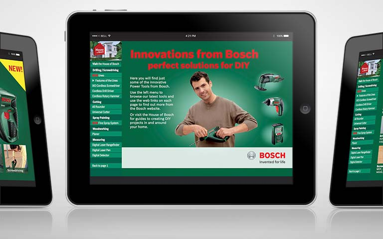 Innovations from Bosch interactive PDFs