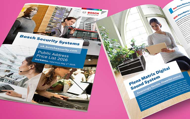 Bosch Security Systems price list brochures