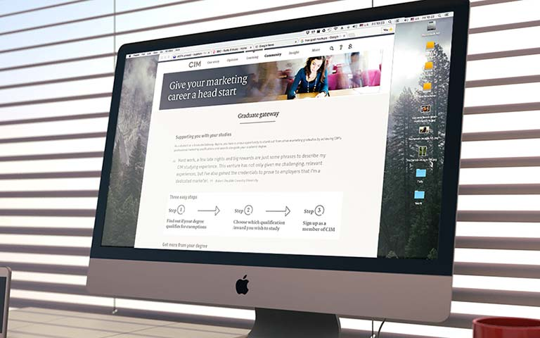 Website design – The Chartered Institute of Marketing