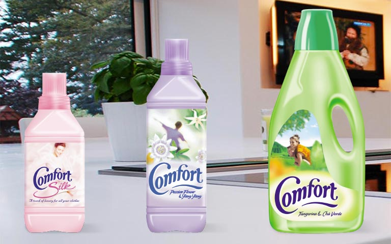 Comfort fabric conditioner packaging – Vibrandt