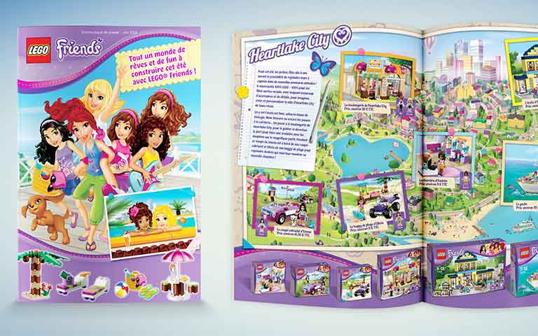 LEGO Friends press release leaflet