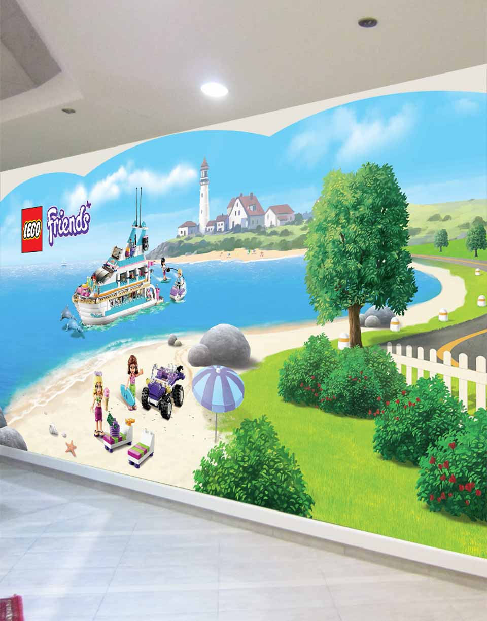 LEGO Friends wall displays