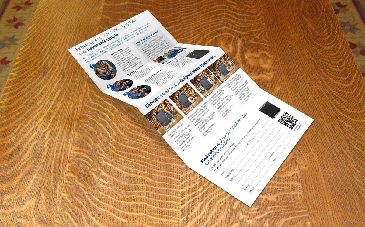 Bosch DIVAR direct mail inside foldout