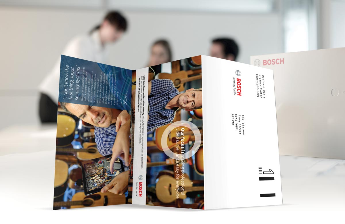 Bosch DIVAR direct mail outside foldout