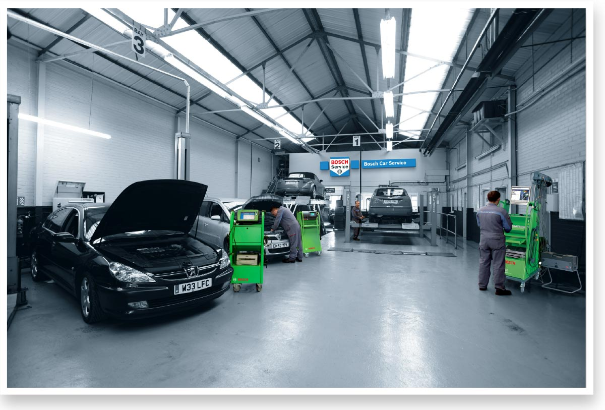 bosch service centre retouching