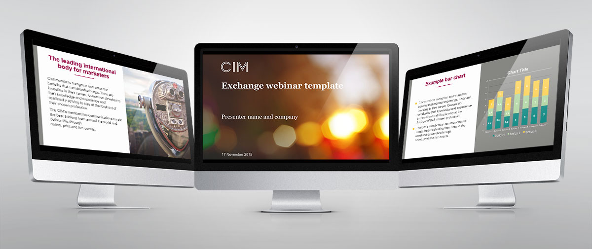 CIM Exchange webinar PowerPoint template