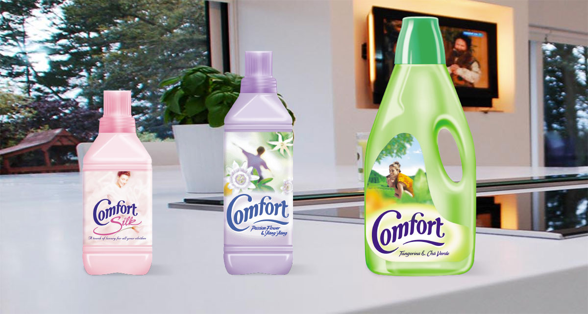 Comfort fabric conditioner packaging