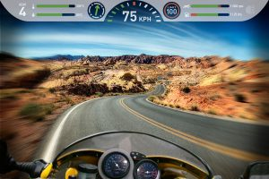 Bosch automotive Desert road heads up