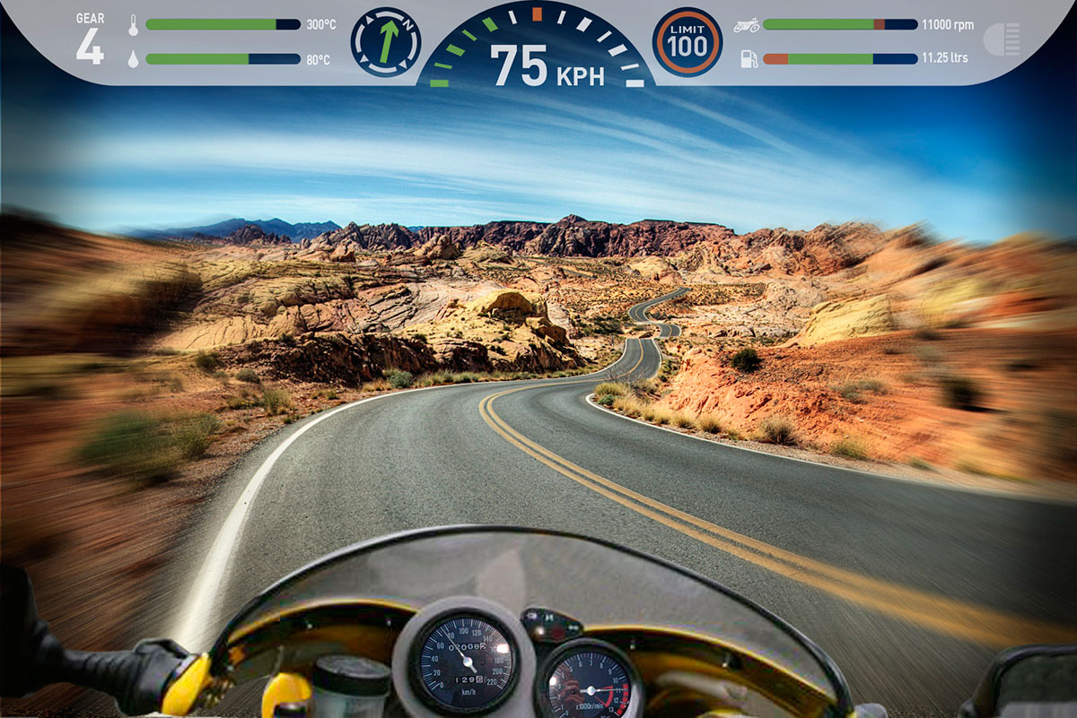 Bosch automotive motorbike heads-up display