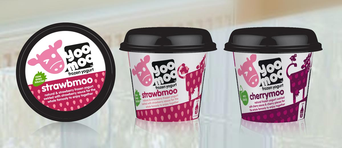 yoomoo flavoured frozen yoghurts packaging