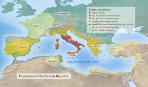 History map - Roman empire