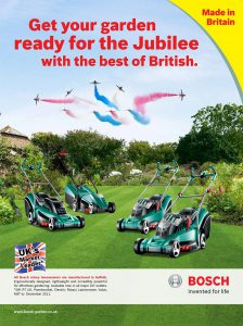 Bosch lawn mowers jubilee advert