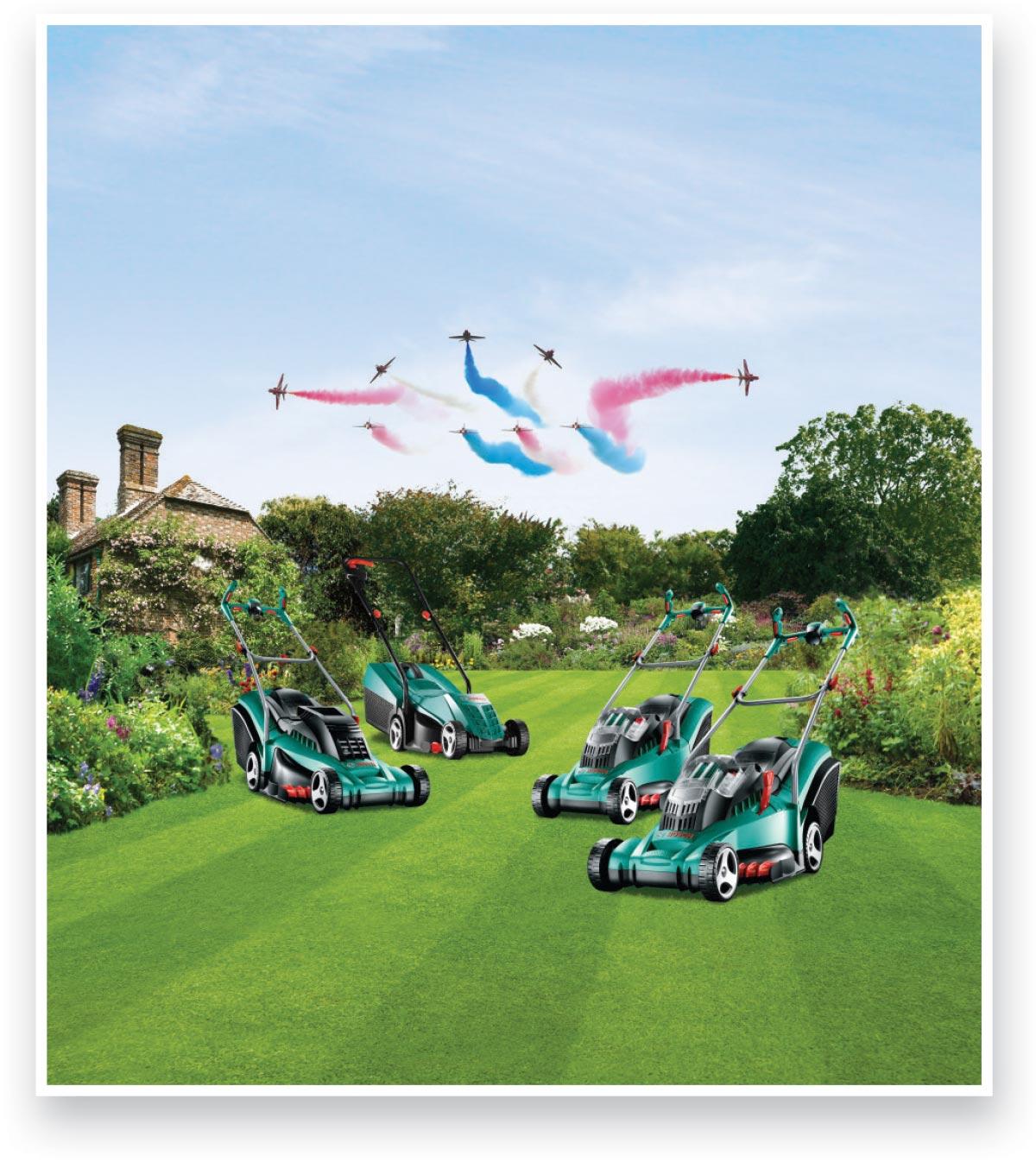 Bosch lawn mowers jubilee advert - after