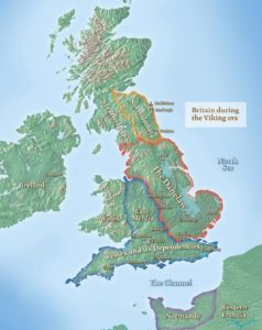 History map - Britain during the Danelaw