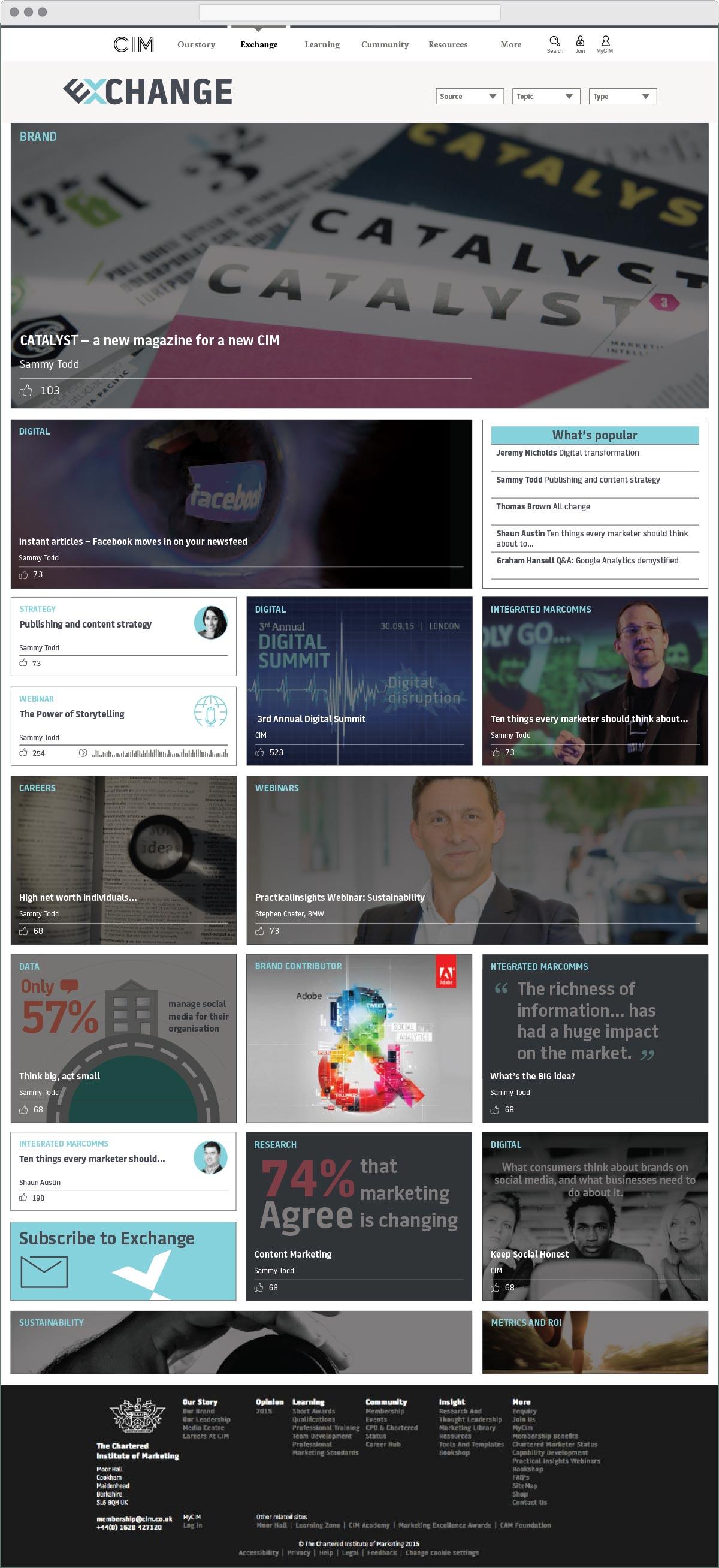 CIM-Exchange-website-homepage