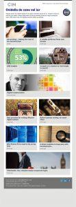 CIM Marketing Pulse email designs