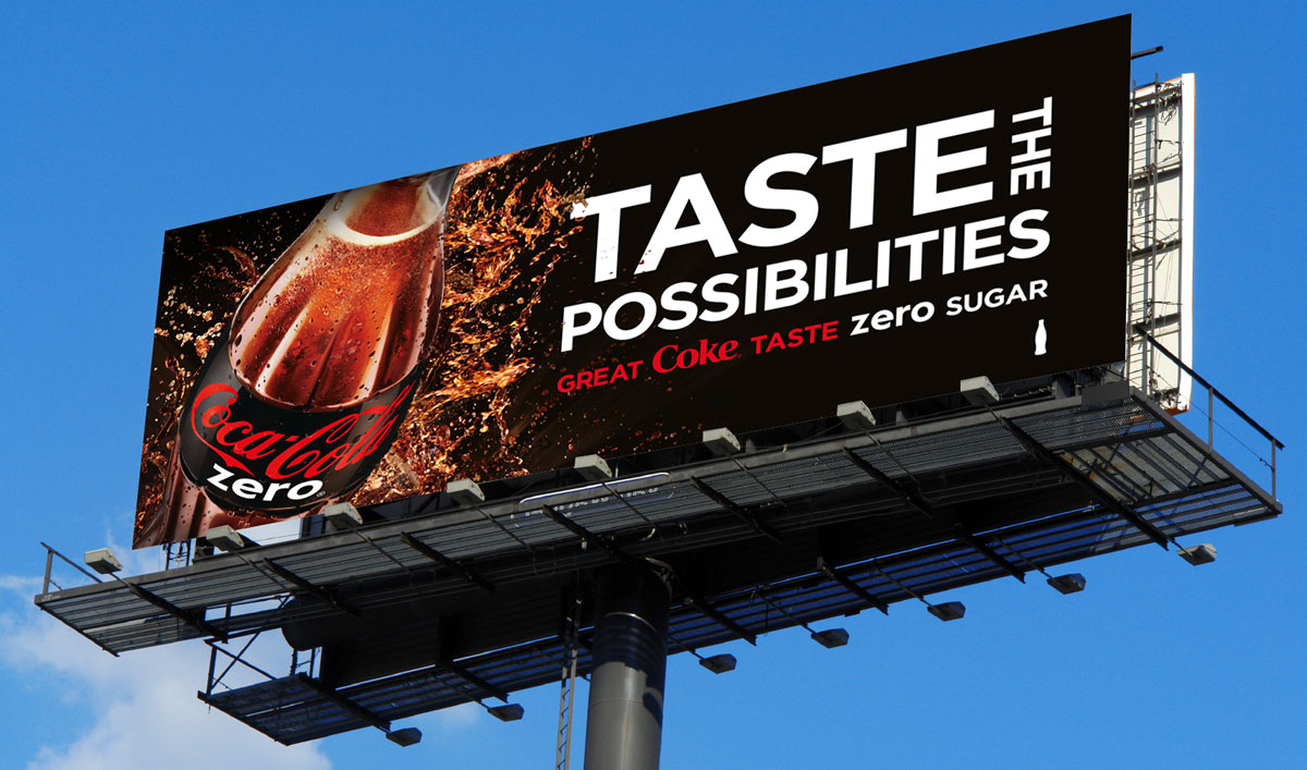 Coke Zero Advertising campaign billboard