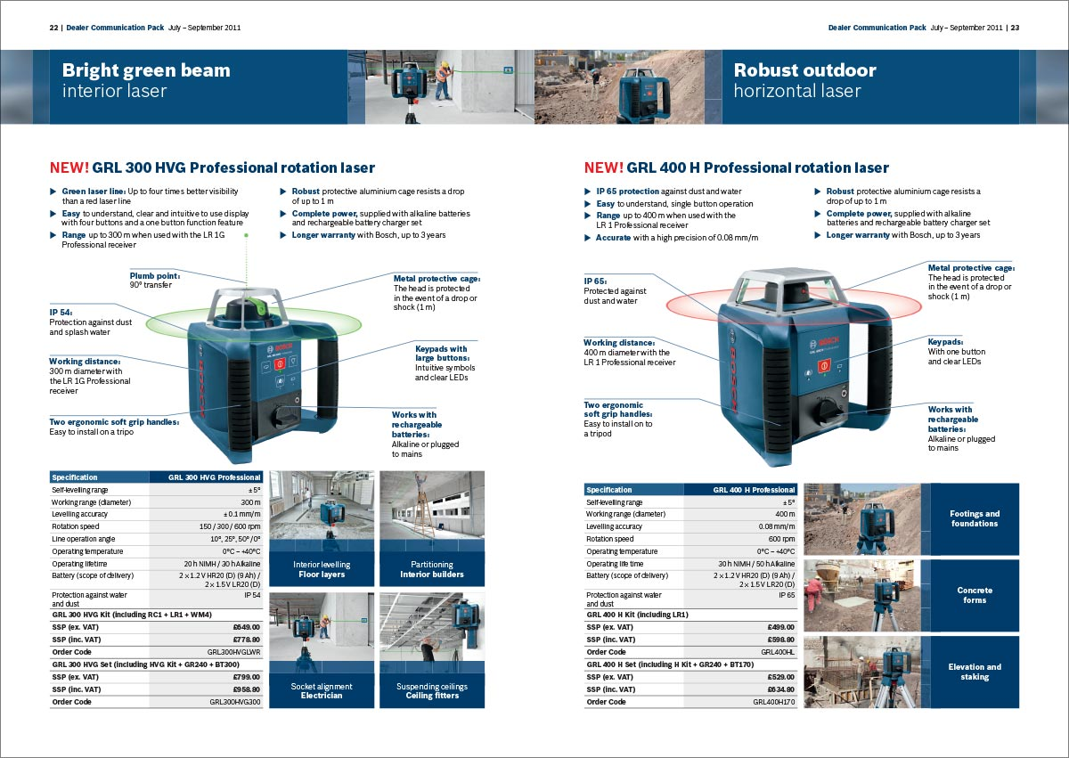 Bosch professional dealer communications pack brochure - products slide