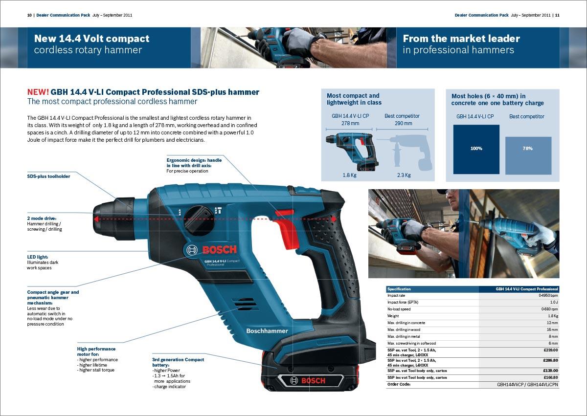 Bosch professional dealer communications pack brochure - power tool slide