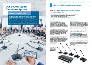 Bosch EU price list Conference Systems