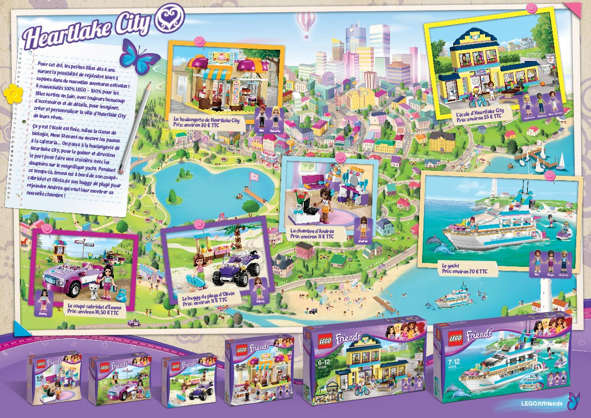 LEGO Friends press release leaflet inside