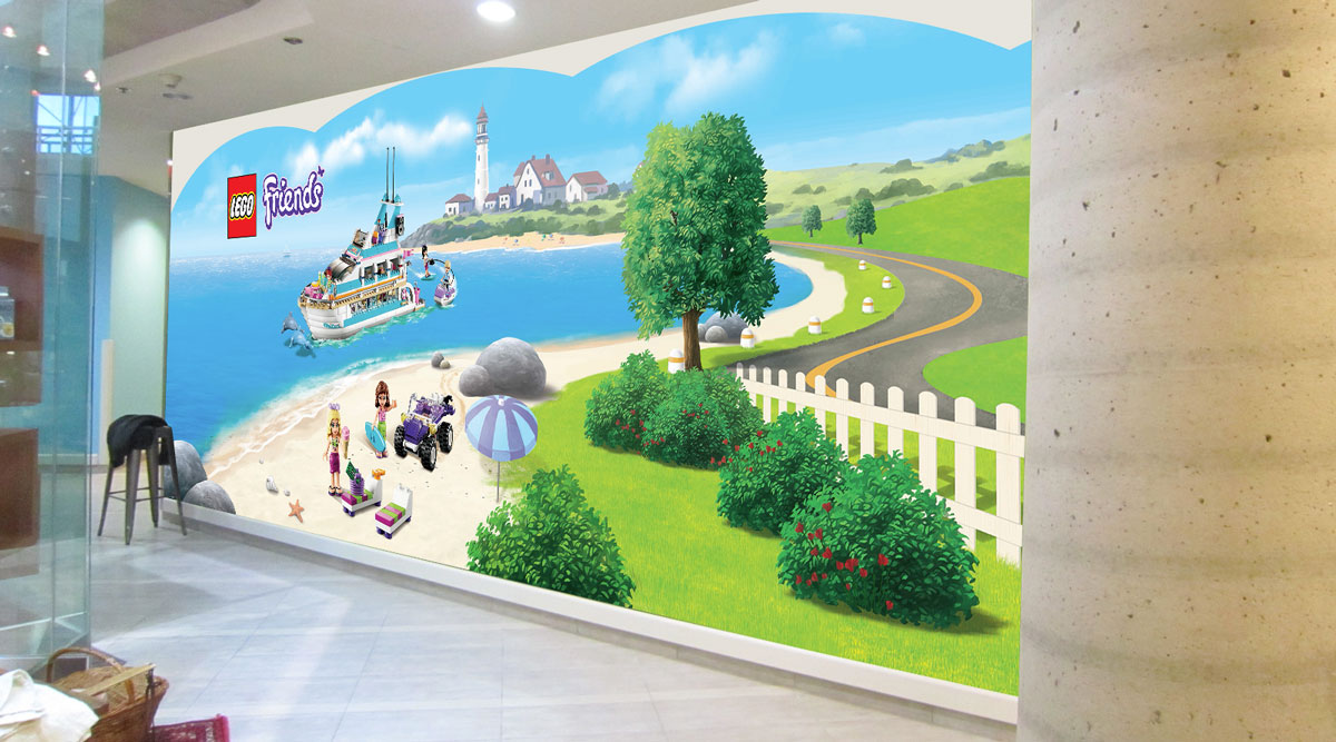 LEGO Friends wall displays - in situ