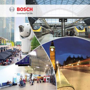 Bosch Home Office Security and Policing exhibition panel