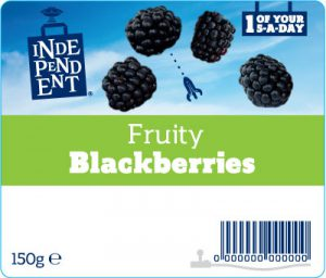 Independent stores fruit label - blackberries