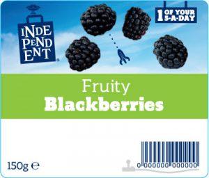 Independent stores fruit label - blackberries