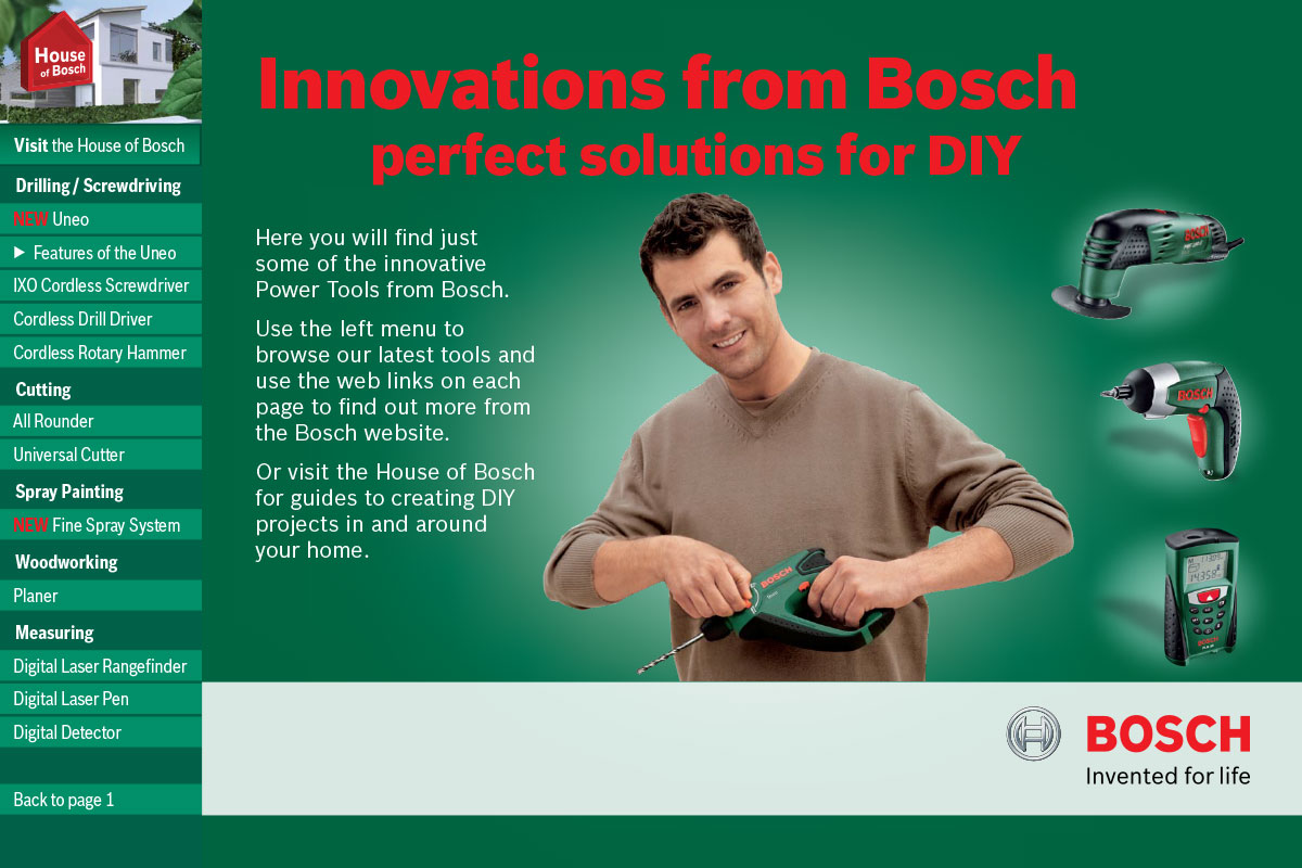 Innovations from Bosch interactive PDF - front page