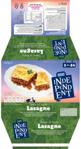 Independent stores Ready Meals Beef Lasagne