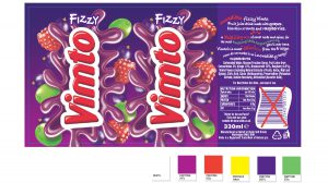Vimto packaging Can artwork