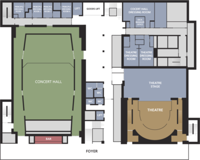 Milton Court floor plans level one