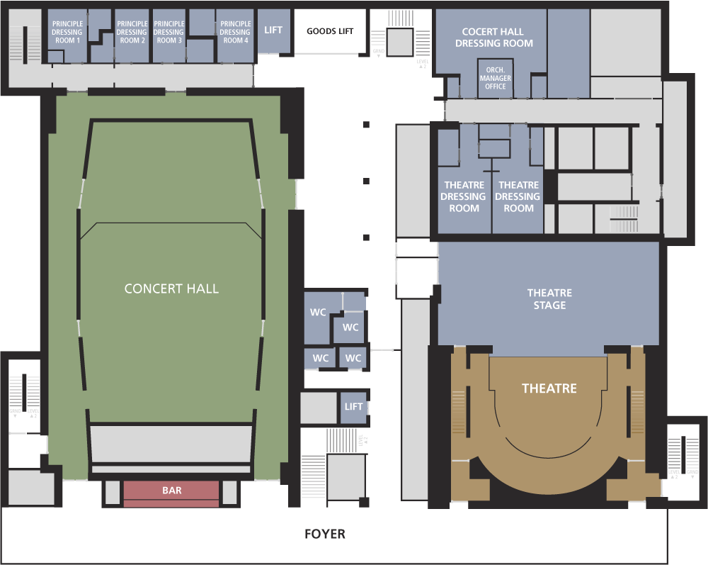 floor plans - guildhall school of music  u0026 drama