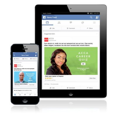 ACCA Africa social media campaign on screens