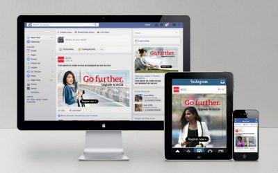 ACCA Global social media campaign on screens