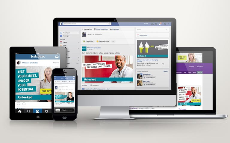 Unlocked Graduates Social Media and Google AdSense Campaign