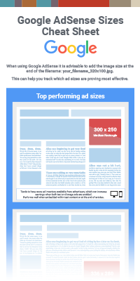 Google AdSense Sizes Cheat Sheet 2018
